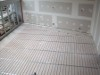 In screed on concrete floor